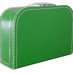 Gepersonaliseerd olijfgroen koffertje
