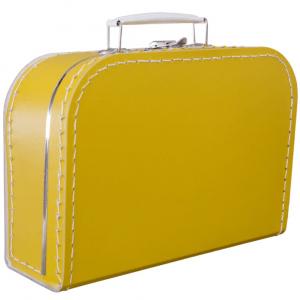 Gepersonaliseerd geel koffertje