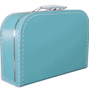 Gepersonaliseerd turkoois koffertje