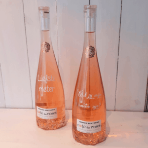 Gepersonaliseerde fles rosé wijn